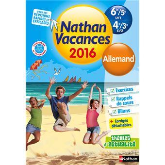 cahier de vacances allemand