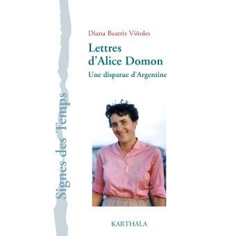 Lettres d 39 alice domon broch diana beatriz vinoles for Domon livraison