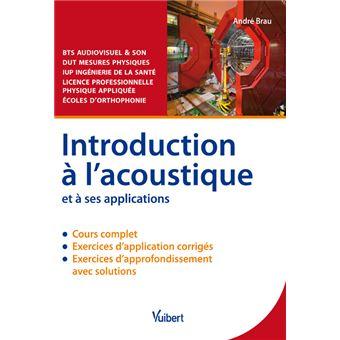 Introduction à l'acoustique et à ses applications