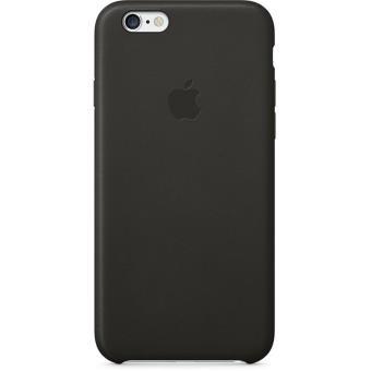 coque apple pour iphone 6 cuir noir etui pour t l phone. Black Bedroom Furniture Sets. Home Design Ideas