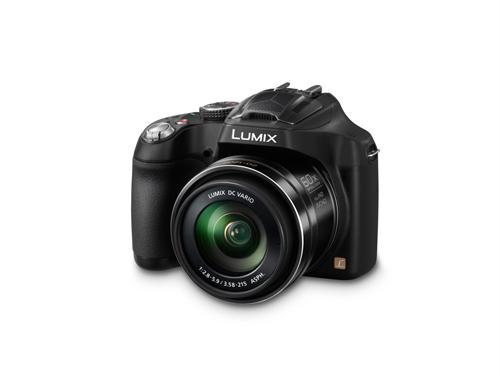 Appareil Photo Numérique Bridge Panasonic DMC FZ72 EF-K Noir. Capteur MOS 16.1 Mpx haute Sensibilité. Objectif 60x F/2.8-5.9. Ultra grand angle 20mm. Vidéo Full HD 1080 50 images par seconde. Ecran 3 460k points.