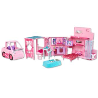 barbie camping car equestre mattel accessoire poup e acheter sur. Black Bedroom Furniture Sets. Home Design Ideas