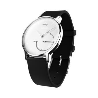 montre Withings Activité Steel bracelet noir et cadran blanc Coach