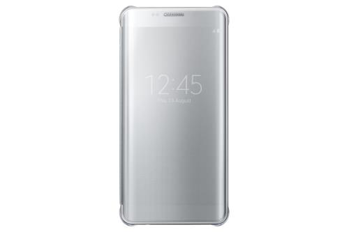 Etui Samsung Clear View Cover pour Galaxy S Edge Argent a