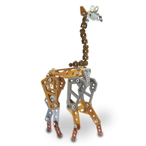 SAFARI - 5 MODELES Meccano : Un rhinocéros à construire avec des mouvements réalistes ! Amuse-toi également à construire d´autres animaux de la savane ! 5 modèles à construire. 2 outils et notice de montage inclus. À partir de 8 ans.
