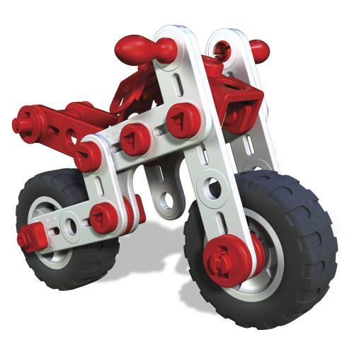 SUPER MOTOS Meccano Junior : Découvre le système de construction Meccano ! 2 modèles différents à construire. 2 outils et notice de montage inclus. À partir de 5 ans.