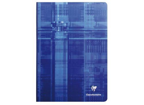 CLAIREFONTAINE Cahier reliure brochure 21x29,7 cm 192 pages grands carreaux. Papier Vélin velouté Clairefontaine 90g/m2 certifié PEFC