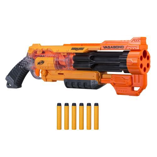 Avec nerf Doomlands, deviens un héro post-apocalyptique avec ce pistolet a barillet rotatif pouvant contenir jusqu´a 6 fléchettes. 6 fléchettes Elite Doomlands incluses.