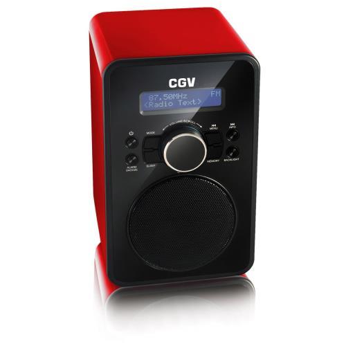 Radio réveil CGV DR 2BT Rouge
