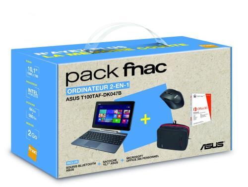 Asus pack fnac tablette t100taf dk047b 10 1 500 go sacoche ordinateurpascher - Pack office tablette samsung ...