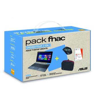 pack fnac tablette asus t100taf dk047b 10 1 500 go. Black Bedroom Furniture Sets. Home Design Ideas