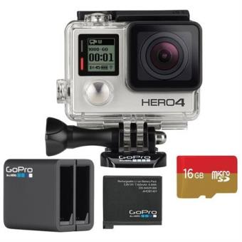 GoPro HERO4 Silver + Carte MicroSD + Chargeur batterie double