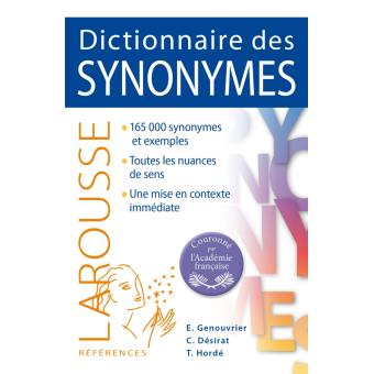 dictionnaire des synonymes edition 2014 broch emile genouvrier claude d sirat achat. Black Bedroom Furniture Sets. Home Design Ideas
