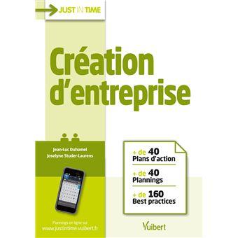 Création d'entreprise :+ de 40 plans d'action, + de 40 plannings, + de 160 practices