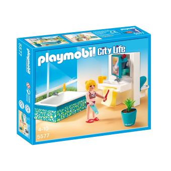 playmobil city life 5577 salle de bains avec baignoire. Black Bedroom Furniture Sets. Home Design Ideas