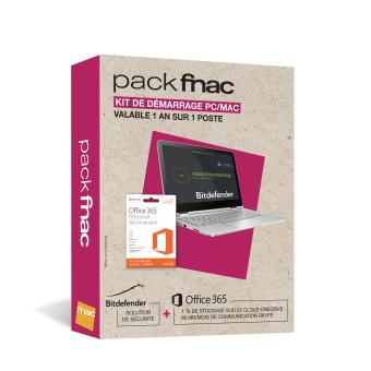 Pack fnac Kit de Démarrage Office 365 Personnel 1 an + Bitdefender