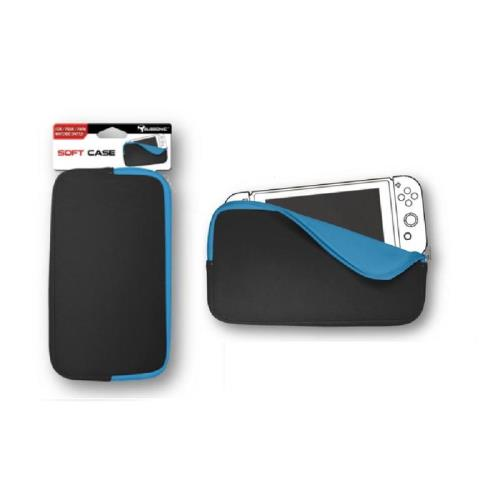 Housse soft case noir et bleu pour nintendo switch for Housse nintendo switch zelda