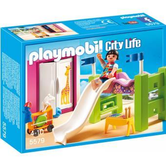 Playmobil city life 5579 chambre d 39 enfant avec lit for Cuisine 5582 playmobil
