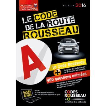 code rousseau de la route 2016 broch collectif achat livre achat prix fnac