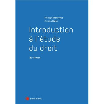 Introduction l 39 tude du droit broch philippe for Etude du sol prix