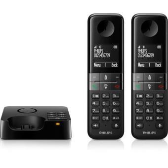 philips d4552b duo noir t l phone sans fil num rique. Black Bedroom Furniture Sets. Home Design Ideas
