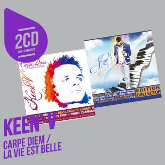 carpe diem la vie est belle coffret 2 cd keen 39 v cd album achat prix fnac. Black Bedroom Furniture Sets. Home Design Ideas