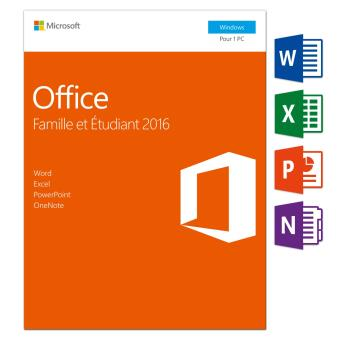 Office famille et etudiant 2016 1 pc logiciel pc achat prix fnac - Office famille et etudiant 2013 1 pc ...