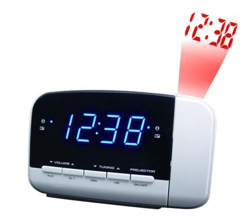 Radio-réveil Brandt BCR152P Blanc