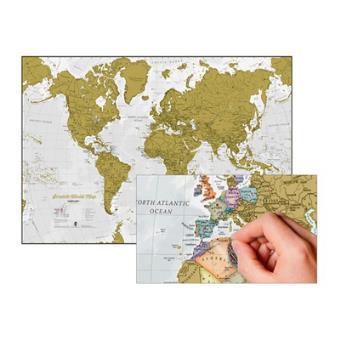 scratch world map carte du monde gratter broch. Black Bedroom Furniture Sets. Home Design Ideas