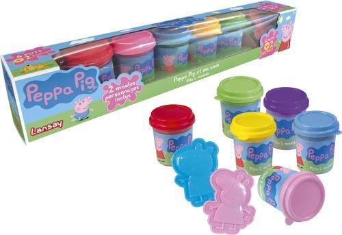 Peppa Pig est la nouvelle héroïne des tout-petits avec laquelle ils ont rendez-vous toutes les semaines à la télévision ! Retrouve Peppa Pig et ses amis dans ce coffret de pâte à modeler contenant 6 couleurs de pâte ! Utilise les 2 moules pour créer tes f