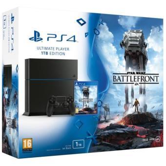Pack console Sony PS4 1 To Noire + Star Wars Battlefront Console de