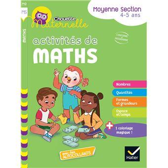 Mathématiques Maternelle moyenne section