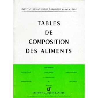 Table de composition des aliments broch lucie randoin - Table de composition des aliments simplifiee ...