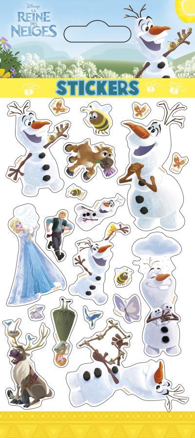 Olaf en été, sticker sheets glitter