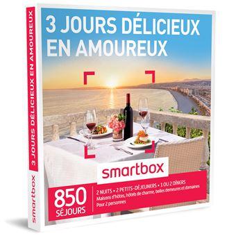 coffret cadeau smartbox 3 jours d licieux en amoureux coffrets cadeaux achat prix fnac. Black Bedroom Furniture Sets. Home Design Ideas