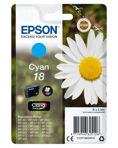 Cartouche d´encre Epson Série Pâquerette 18 - Cyan