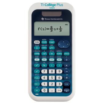 Texas instruments ti coll ge plus solaire calculatrice for Calculatrice prix