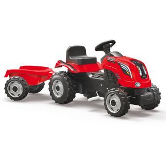 tracteur farmer xl remorque smoby rouge v hicule. Black Bedroom Furniture Sets. Home Design Ideas
