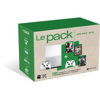 pack fnac console xbox one s 500 go mafia iii gta v. Black Bedroom Furniture Sets. Home Design Ideas