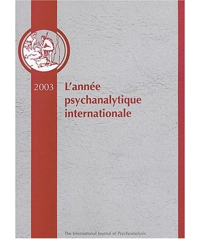 L?année psychanalytique internationale