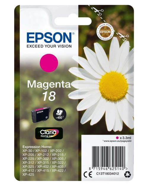 Cartouche d´encre Epson Série Pâquerette 18 - Magenta