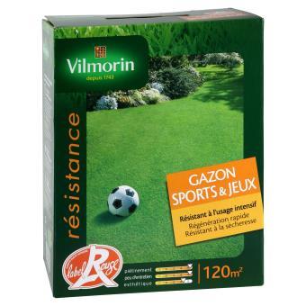 Gazon sport et jeux vilmorin 3 kg plantes graines et bulbes top prix sur - Gazon sport et jeux ...