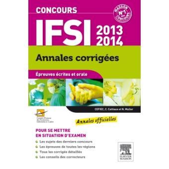 Concours IFSI : annales corrigées épreuves écrites