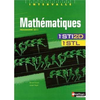 Mathematiques 1eres sti2d/stl