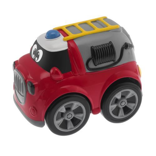 Mini véhicule électronique à collectionner. Système de chargement à rétro-friction. Fonction Turbo Touch, une fois chargée il faut appuyer sur la voiture pour la voir s´élancer. Avec mélodies et effets sonores.