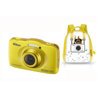 compact nikon coolpix s32 jaune sac dos enfant jaune. Black Bedroom Furniture Sets. Home Design Ideas