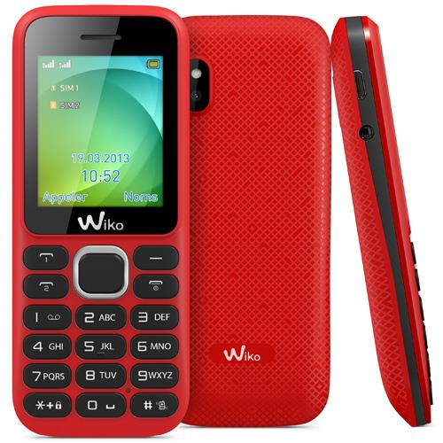 Telephone mobile Wiko Lubi  Double SIM Rouge a
