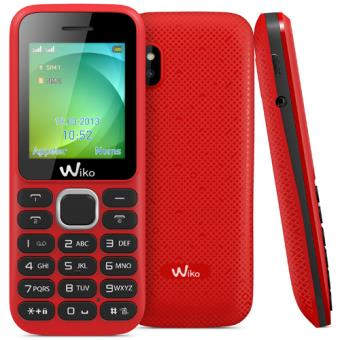 t l phone mobile wiko lubi 3 double sim rouge smartphone sous os propri taire achat prix. Black Bedroom Furniture Sets. Home Design Ideas