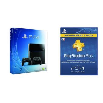 pack console ps4 2 me manette ps4 exclusivit fnac abonnement de 3 mois playstation plus. Black Bedroom Furniture Sets. Home Design Ideas