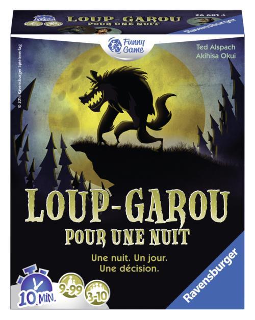 Chaque joueur joue le rôle d´un Villageois, d´un Loup-garou ou d´un personnage spécial.C´est à vous de deviner qui sont les Loups-garous et de tuer au moins l´un d´eux pour gagner... à moins que vous ne soyez vous-même devenu un Loup-garou !